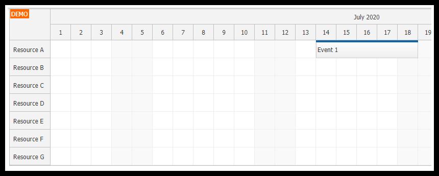 javascript html5 scheduler asp.net core mvc resources