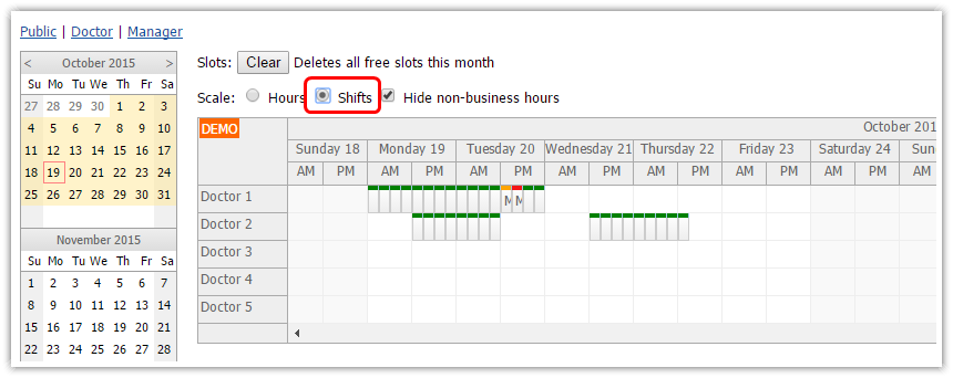 angularjs doctor appointment scheduling php scale shifts