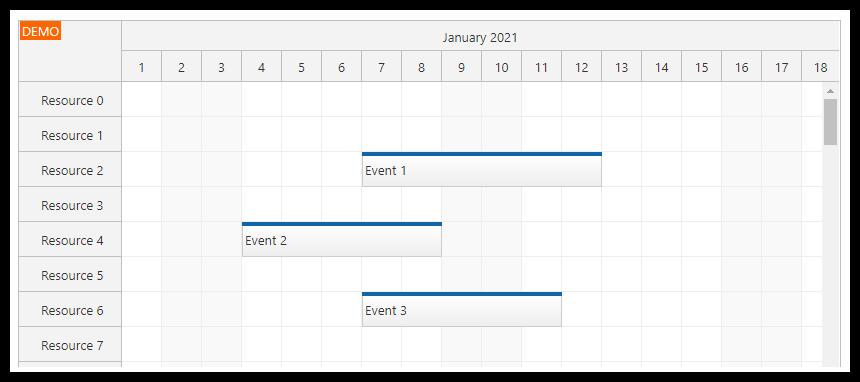 vue scheduler on demand event loading viewport